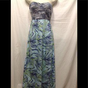 Women's size Large ROXY strapless maxi dress